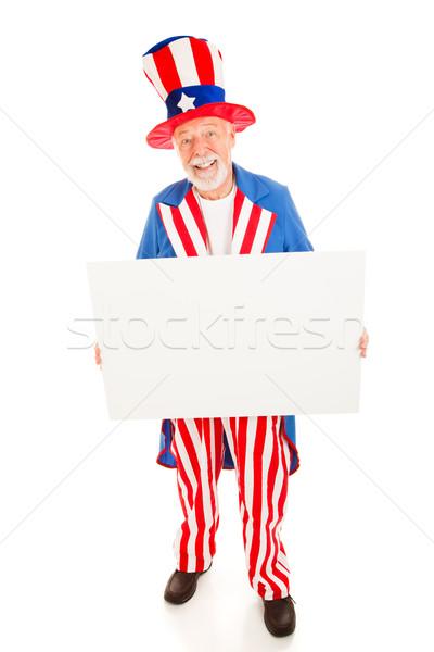 üzenet nagybácsi valósághű tart fehér felirat Stock fotó © lisafx