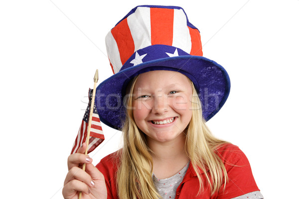 Patriotic Girl Stock photo © lisafx