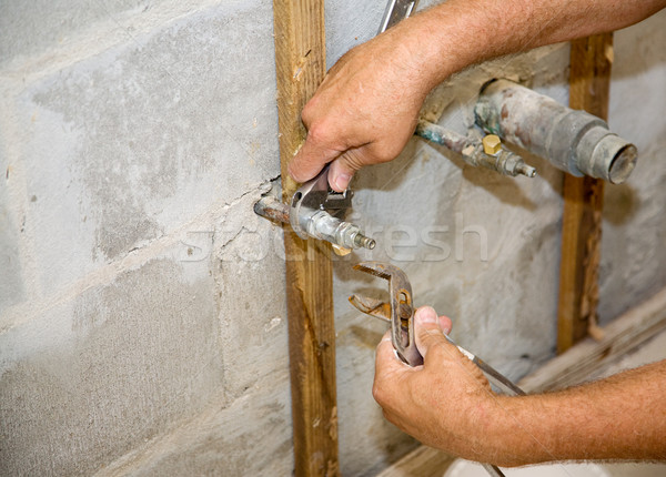 Stock photo: Plumbing with Copyspace
