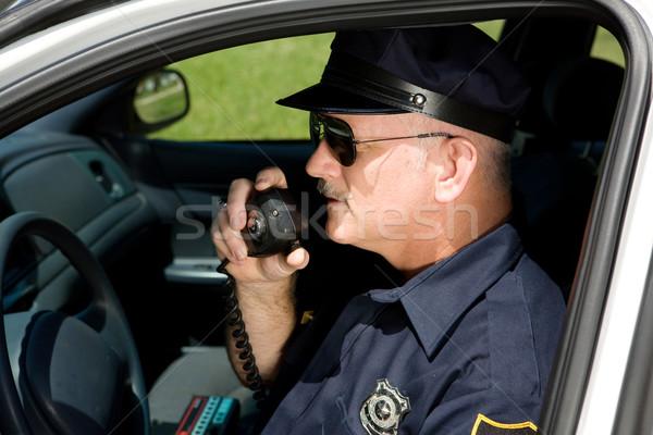 полицейский радио автомобилей говорить мнение Сток-фото © lisafx