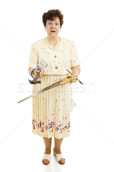Reluctant Mrs Fixit Stock photo © lisafx
