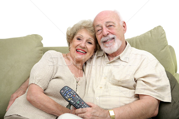 Seniors Enjoying Television Stock photo © lisafx