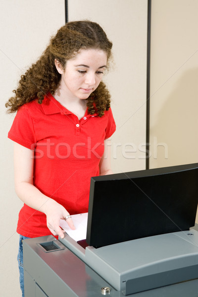 Young Woman Voting Stock photo © lisafx