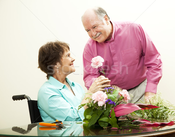 Florist - Helpful Husband Stock photo © lisafx