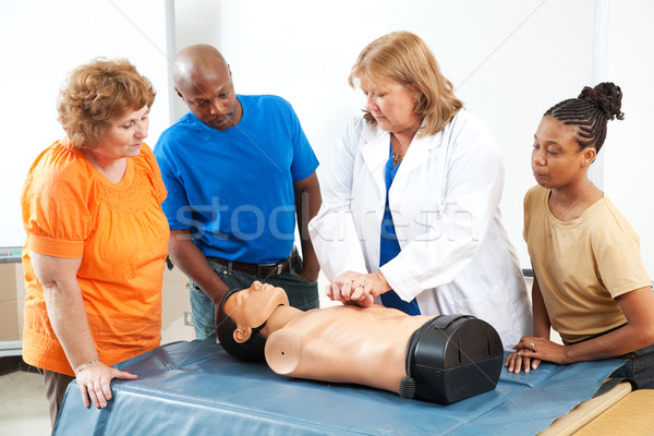 Adults Learning First Aid CPR Stock photo © lisafx