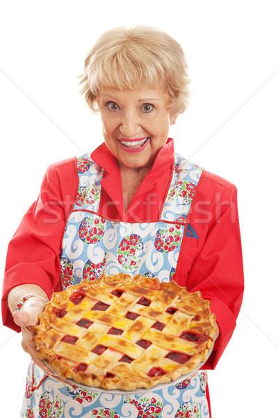 Retro nagyi házi készítésű pite édes retró stílus Stock fotó © lisafx