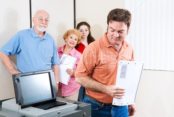 Elezioni scettico elettore uomo nuovo Foto d'archivio © lisafx