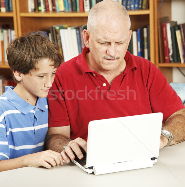 путать папу домашнее задание отец помочь сын Сток-фото © lisafx