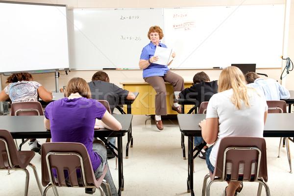 Stock foto math classe insegnante testa Foto d'archivio © lisafx