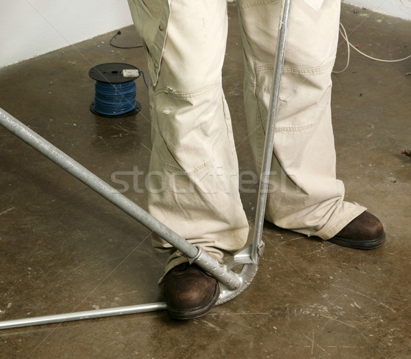 Electrical Pipe Bending Stock photo © lisafx