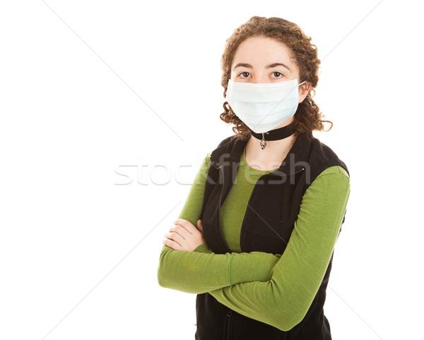 Epidemie tienermeisje meisje laat tieners Stockfoto © lisafx