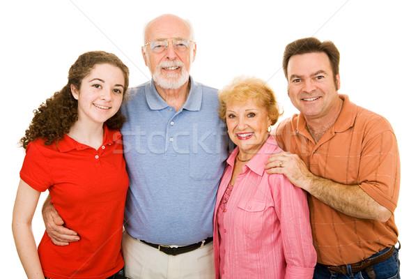 Extended Family Over White Stock photo © lisafx