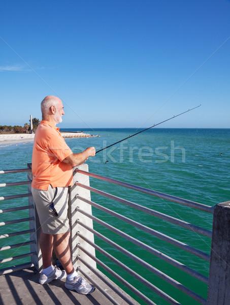 Grandpa Loves to Fish Stock photo © lisafx