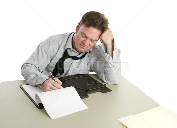 Büroangestellte Konzentration Notizen Business Schule Arbeit Stock foto © lisafx