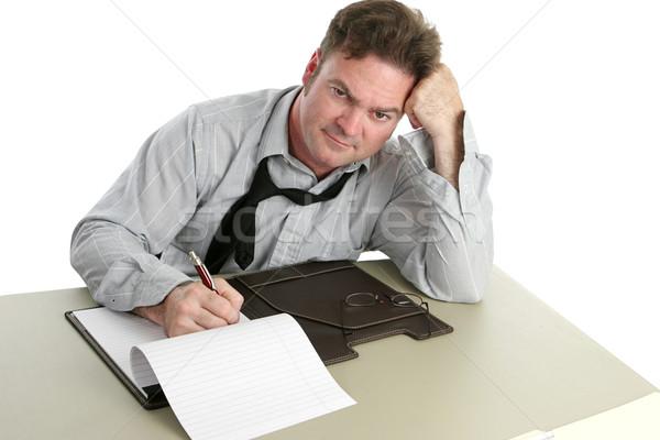 Büroangestellte unzufrieden müde schauen Business Schule Stock foto © lisafx