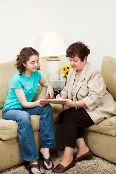 Teen entrevue vertical adolescente femme Photo stock © lisafx