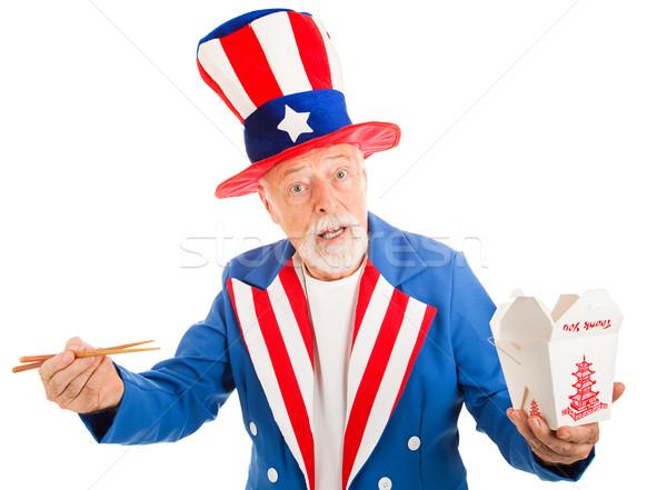 Tío chino americano icono figura fuera Foto stock © lisafx