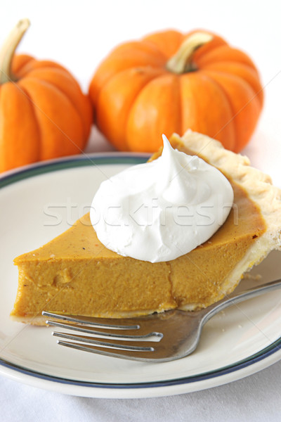Pumpkin Pie Slice Stock photo © lisafx