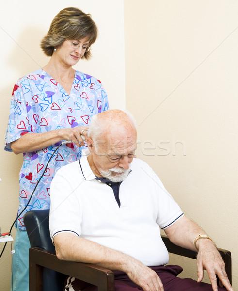 Collo terapia ultrasuoni senior uomo tecnologia Foto d'archivio © lisafx