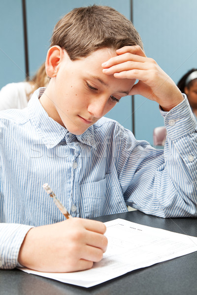 Adolescent Boy in Class Stock photo © lisafx