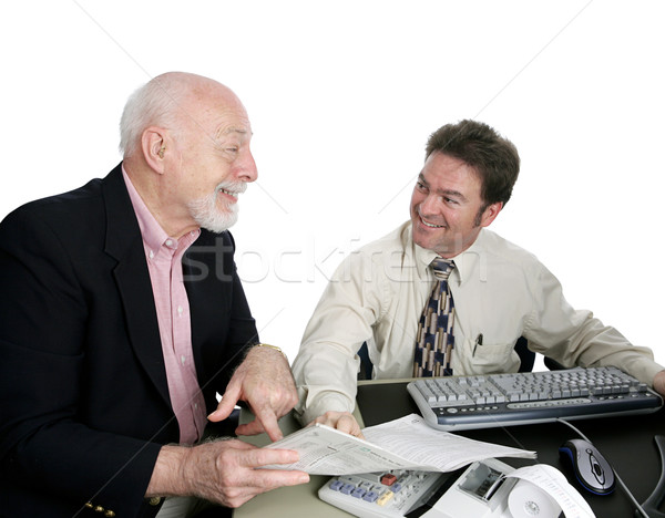 Accounting Series - Happy Sr. Man Stock photo © lisafx