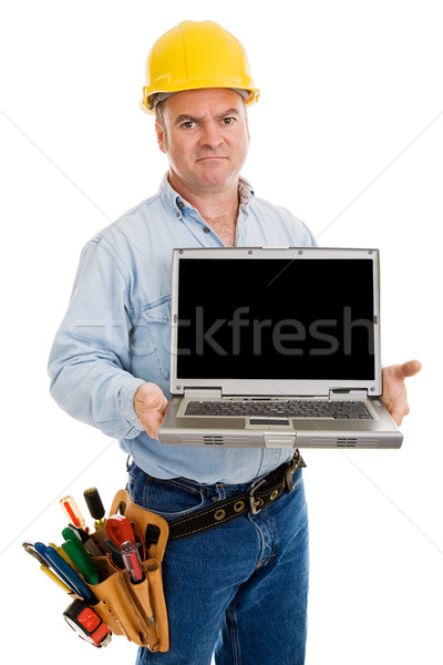 Angry Worker with Message Stock photo © lisafx