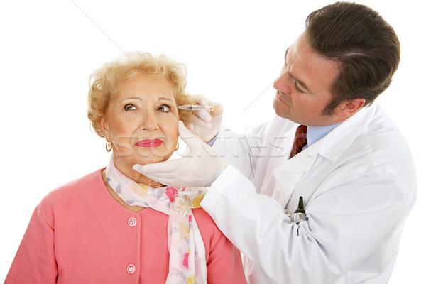 Kozmetikai sebész munka idős arc ráncok Stock fotó © lisafx
