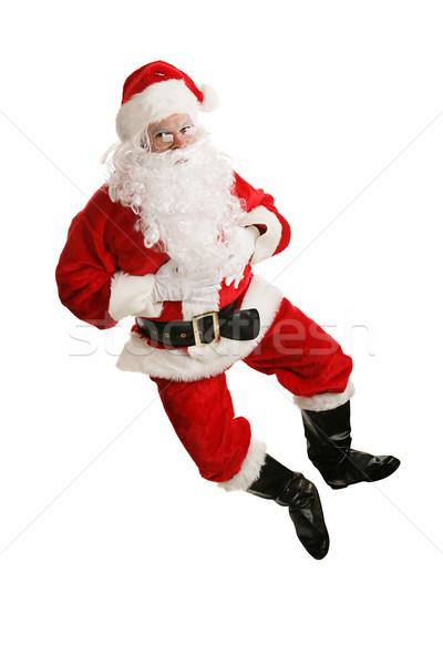 Dancing Santa Airborne Stock photo © lisafx