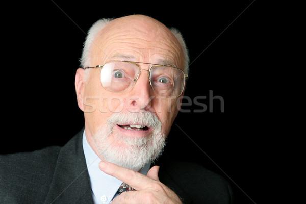 Stock Photo of Surprised Senior Man  Stock photo © lisafx