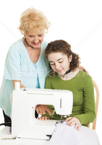 Teen nonna senior donna insegnamento pronipote Foto d'archivio © lisafx