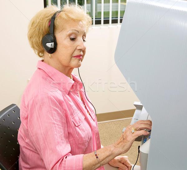голосование выбора старший Lady новых Сток-фото © lisafx