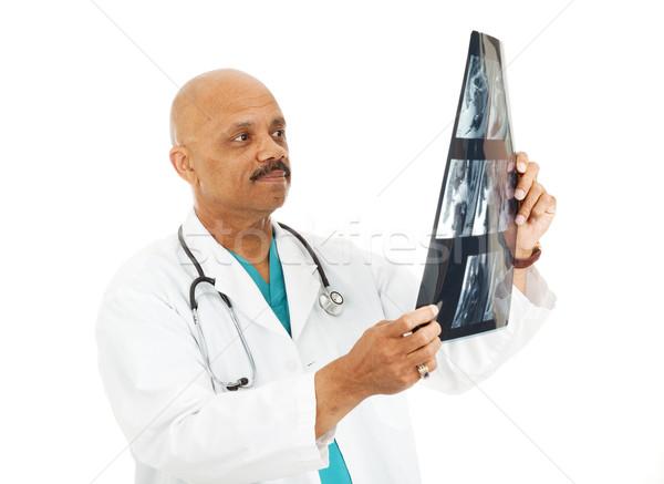 Doctor Examining X-Rays Stock photo © lisafx