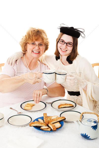 Mothers Day Tea Party with Mom Stock photo © lisafx