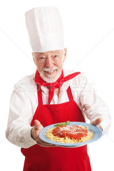 Italian Chef Isolated Stock photo © lisafx