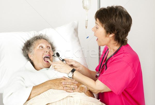 Hospital Nurse - Say Ah Stock photo © lisafx