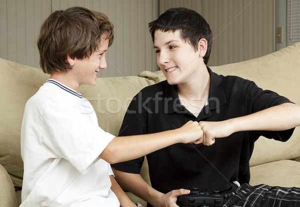 Brothers Fist Bump Stock photo © lisafx