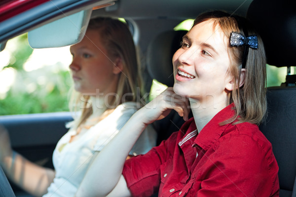 Distracted Teenage Driver Stock photo © lisafx