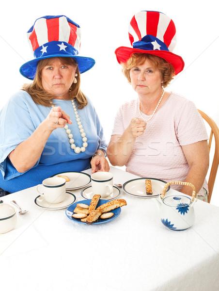 Stok fotoğraf öfkeli çay parti iki Stok fotoğraf © lisafx