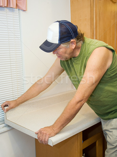 Contractor Working with Laminate Stock photo © lisafx