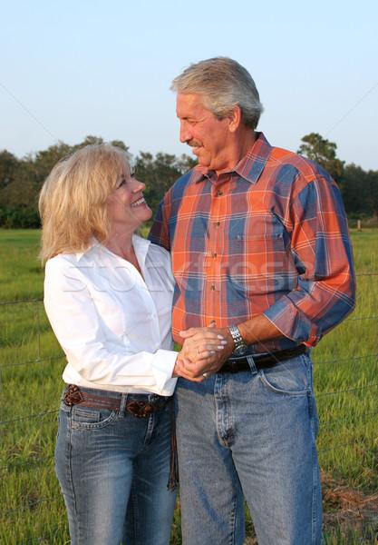Country Couple Romantic Stock photo © lisafx
