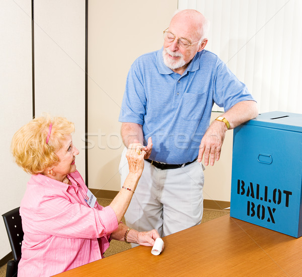 Election - I Voted Sticker Stock photo © lisafx