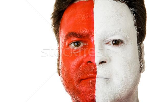 Fan visage peinture sport up soutien Photo stock © lisafx