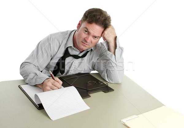 Kantoormedewerker werken laat man kantoor business Stockfoto © lisafx
