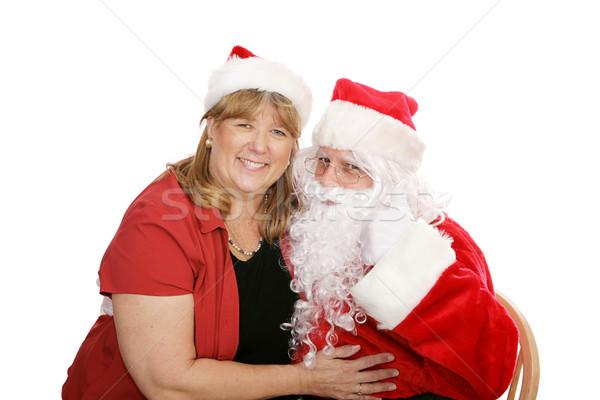 Santa Ladies Man Stock photo © lisafx