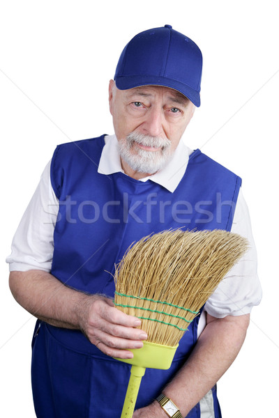 Kıdemli işçi hayal kırıklığı hayal kırıklığına uğramış adam çalışmak Stok fotoğraf © lisafx