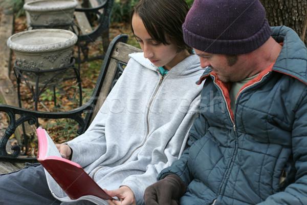 Сток-фото: разделение · слово · подростков · чтение · Библии