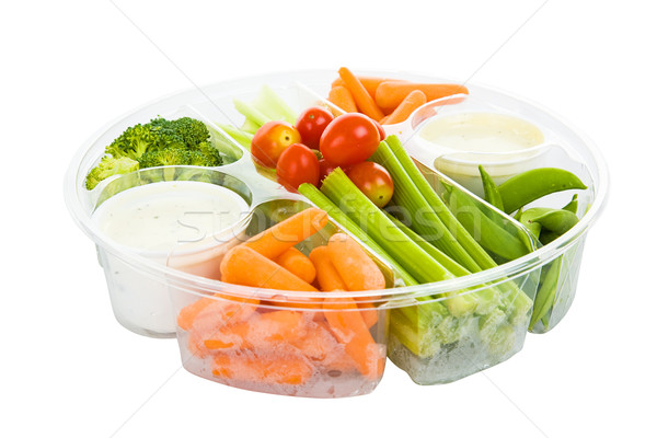 Veggies and Dip with Path Stock photo © lisafx