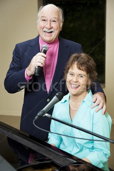 Happy Senior Singers Stock photo © lisafx