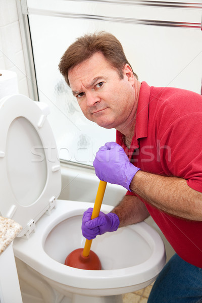 Unpleasant Plumbing Job Stock photo © lisafx