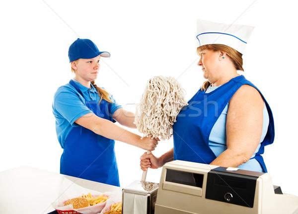Adult Woman Works for Teenage Boss Stock photo © lisafx